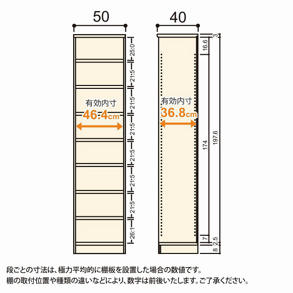 Shelfit(シェルフィット) エースラック/カラーラックM タフタイプ 幅500×奥行400×高さ2111mm ホワイト 1台(2梱包) (取寄品)