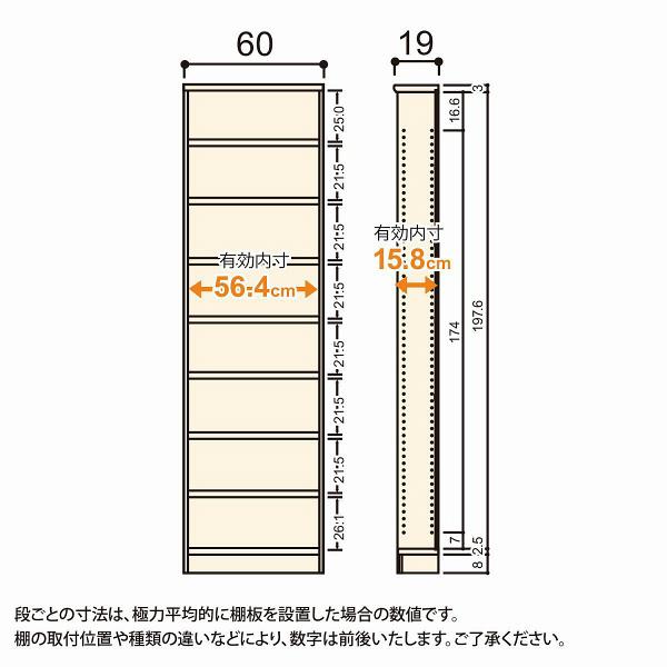 Shelfit(シェルフィット) エースラック/カラーラックS タフタイプ 幅600×奥行190×高さ2111mm ナチュラル 1台(2梱包) (取寄品)