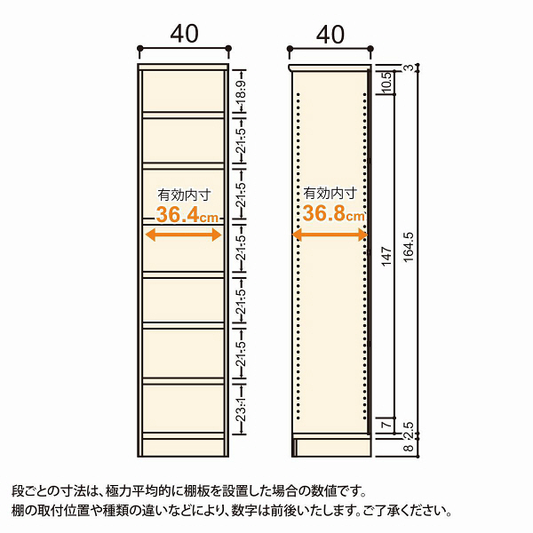 Shelfit(シェルフィット) エースラック/カラーラックM タフタイプ 幅400×奥行400×高さ1780mm ナチュラル 1台(2梱包) (取寄品)