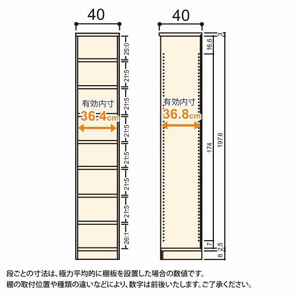Shelfit(シェルフィット) エースラック/カラーラックM タフタイプ 幅400×奥行400×高さ2111mm ナチュラル 1台(2梱包) (取寄品)