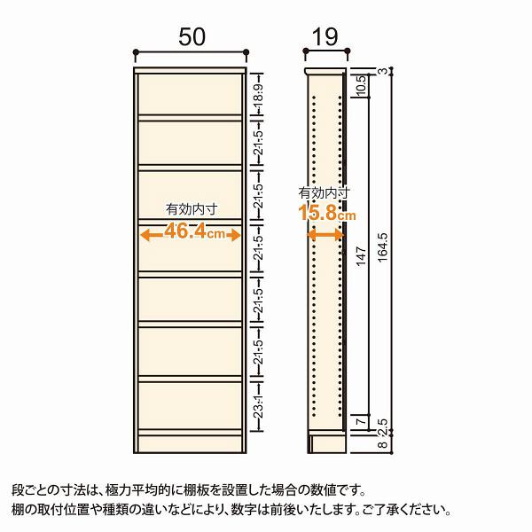 Shelfit(シェルフィット) エースラック/カラーラックS タフタイプ 幅500×奥行190×高さ1780mm ブラウン 1台(2梱包) (取寄品)