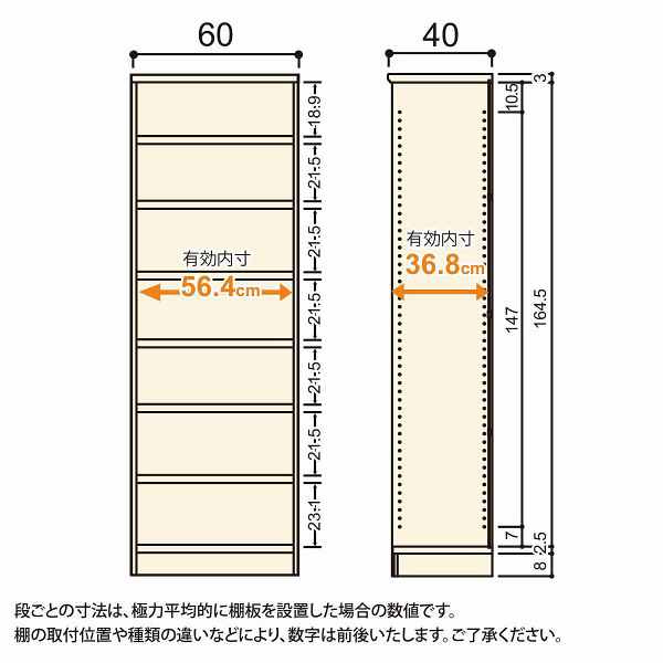 Shelfit(シェルフィット) エースラック/カラーラックM タフタイプ 幅600×奥行400×高さ1780mm ブラウン 1台(2梱包) (取寄品)