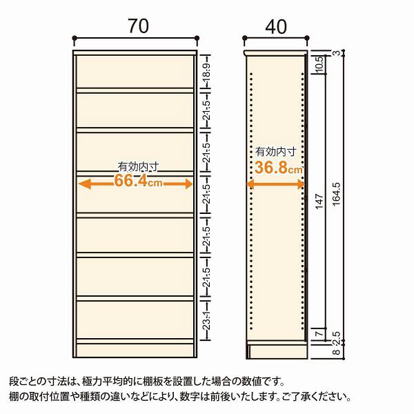 Shelfit(シェルフィット) エースラック/カラーラックM タフタイプ 幅700×奥行400×高さ1780mm ダークブラウン 1台(2梱包) (取寄品)