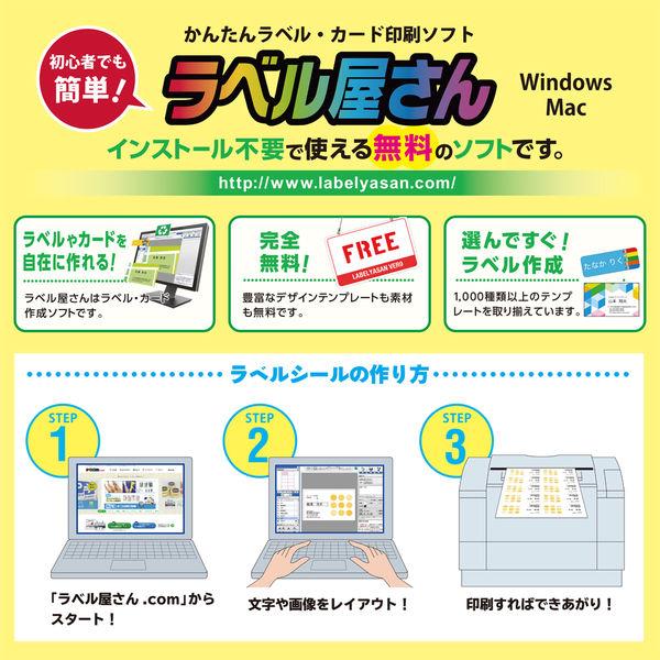エーワン 屋外でも使えるラベルシール UV保護カバー付 備品ラベル インクジェット 光沢フィルム 白 A4 3面 1袋(4セット入) 31083(取寄品)