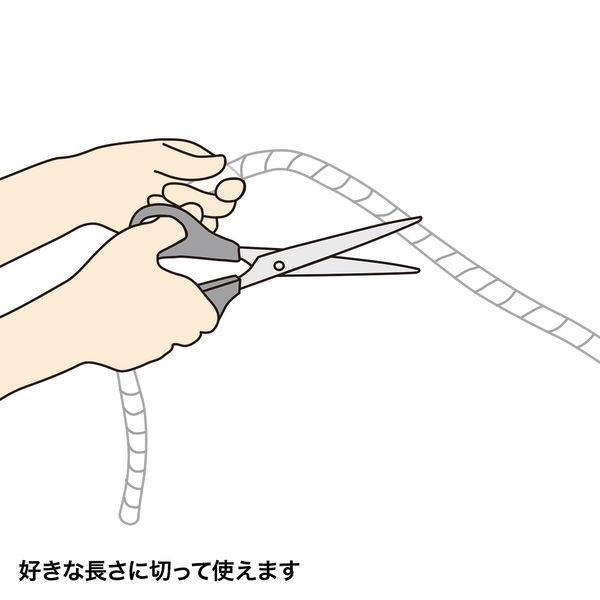 サンワサプライ ケーブルタイ(スパイラル) CA-SP20W 1個 (直送品)