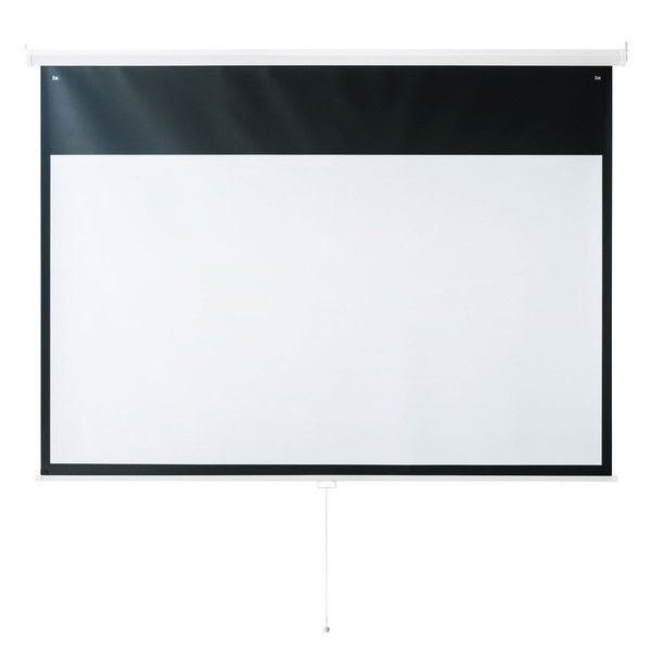 サンワサプライ プロジェクタースクリーン(吊り下げ式) PRS-TS100HD 1個 (直送品)