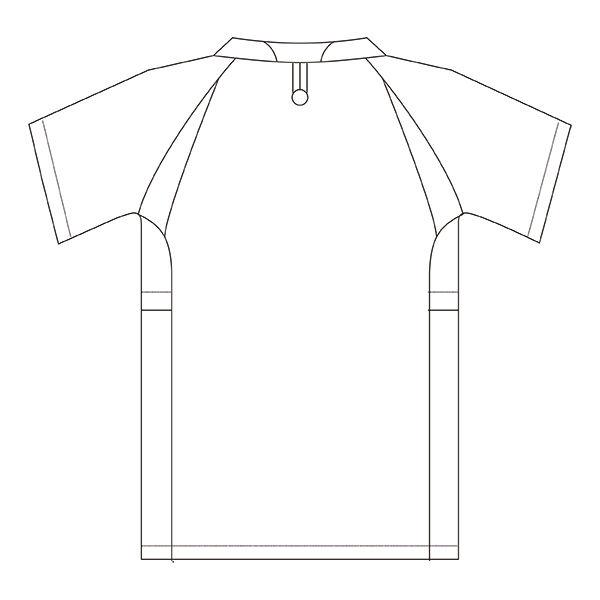 住商モンブラン アシックス スクラブジャケット(男女兼用) 半袖 ホワイト×ネイビー 3L CHM301-0109 (直送品)