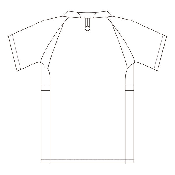 住商モンブラン アシックス スクラブジャケット(男女兼用) 半袖 ホワイト×ネイビー S CHM301-0109 (直送品)