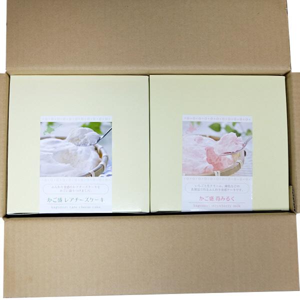 北海道 かご盛レアチーズ・苺みるくケーキ