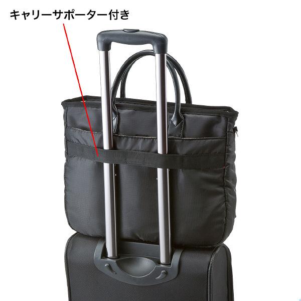 サンワサプライ カジュアルPCバッグ ブラック/15.6インチワイドまで対応 BAG-CA9BK2 (直送品)