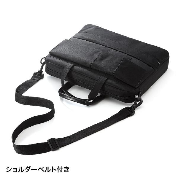 サンワサプライ カジュアルPCバッグ ブラック/13.3インチワイドまで対応 BAG-F8BK (直送品)