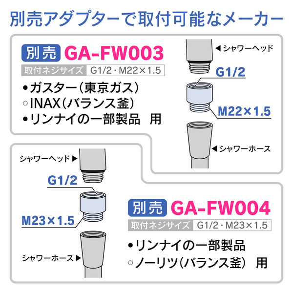ガオナ シャワーヘッド リング交換タイプ 節水 (シャワー穴0.3mm 極細 肌触り・浴び心地やわらか 低水圧対応 ) GA-FA014 (直送品)