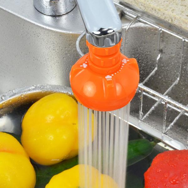 ガオナ キッチンシャワー 首振り式 (泡沫吐水・シャワー切替 節水 掃除も簡単 オレンジ) GA-HK004 (直送品)