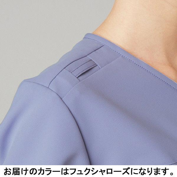 フォーク CHEROKEE(チェロキー) 医療白衣 スクラブ CH750 フュクシャ・ローズ 4L 1枚 (直送品)