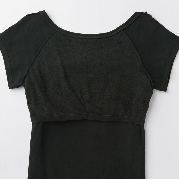 無印 カップ入フレンチ袖Tシャツ 婦人S