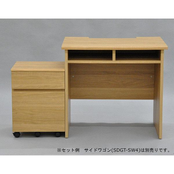 エイ・アイ・エス シンプルデスクシリーズ シンプルデスク 幅800×奥行595×高さ730mm ナチュラル SDGT-101 NA 1台(直送品)