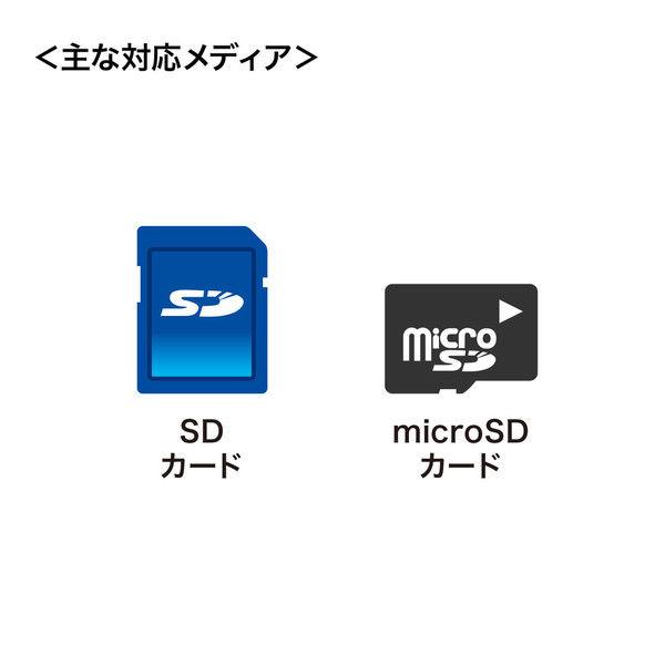 サンワサプライ アンドロイドTYPE-Cカードリーダー ADR-CSDUBK 1個 (直送品)