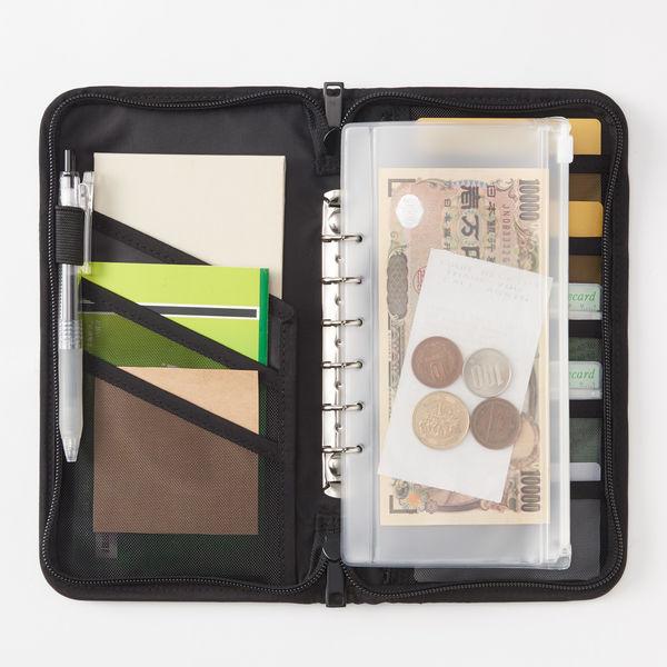パスポートケース クリアポケット付 黒