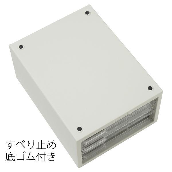 レターケース 浅型5段 ホワイト