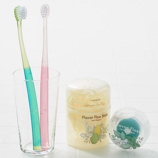 LOHACO歯ブラシコンパクトふつう緑