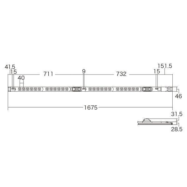 サンワサプライ 19インチサーバーラック用コンセント(30A) TAP-SVSL3024B20 (直送品)