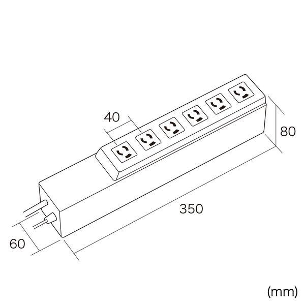 サンワサプライ タイマー付きタップ 3P式(抜け止め) 6個口 電源/3m タイマーパネル/2m TAP-RT1 1個(直送品)
