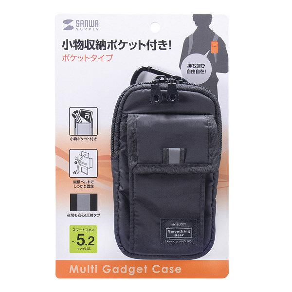 サンワサプライ マルチガジェットケース(M) PDA-SPC21BK (直送品)