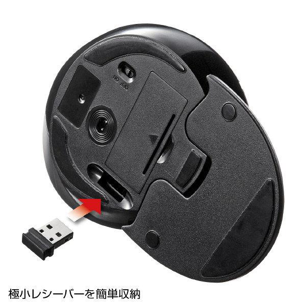 サンワサプライ 無線(ワイヤレス)マウス ブラック エルゴノミクス形状/リストレスト付/レーザー方式/5ボタン MA-ERGW6 (直送品)