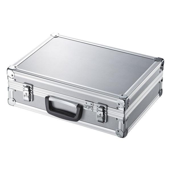 サンワサプライ セキュリティ対応アルミケース シルバー 精密機器・15.6インチワイドまで対応 BAG-AL5SL (直送品)