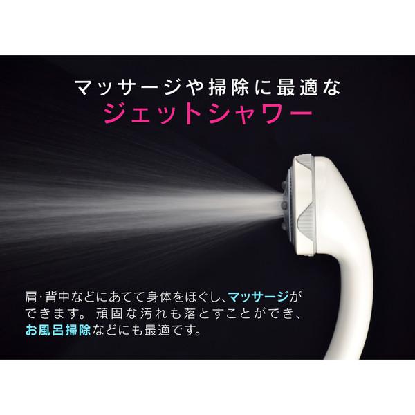 ホリダー・シモン シャワーヘッドとホースのセット 5段切替 ミスト (節水 美肌 洗顔 マッサージ やさしい浴び心地 ボッシーニ)GA-FH003 (直送品)