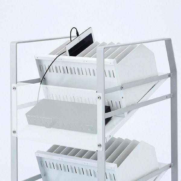 サンワサプライ タブレットワゴン(2段) RAC-TABWG2 (直送品)