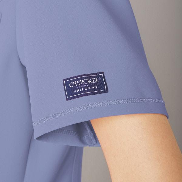 フォーク CHEROKEE(チェロキー) 医療白衣 スクラブ CH750 シエル 4L 1枚 (直送品)
