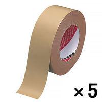 オリーブテープ 0.37mm厚 50mm×25m巻 茶 1セット(5巻:1巻×5) 寺岡製作所