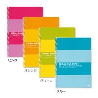 プラス スパイラルリングノート セミB5 6.5mm罫 76801 1パック(4冊入)