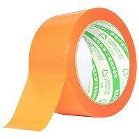 電気化学工業 養生職人 弱粘着 オレンジ 幅50mm×25m巻 #650 1セット(5巻:1巻×5)