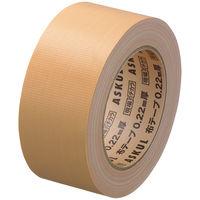 「現場のチカラ」 布テープ 0.22mm厚 50mm×25m巻 茶 1セット(5巻:1巻×5) アスクル