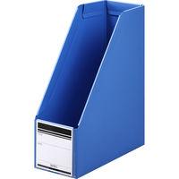 ボックスファイル組み立て式 A4タテ 10冊 PP製 ブルー セリオ