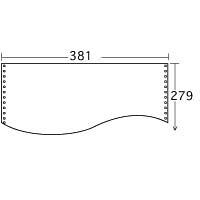 プラス ストックフォーム 薄口タイプ(60g/m2) 15×11インチ 無地 1箱(2000枚入)