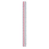 プラス 三角スケール 地積測量型 15cm 47996