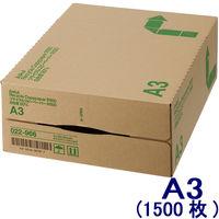 リサイクルコピーペーパーR100 白色度80% A3 1箱(500枚入×3冊) アスクル
