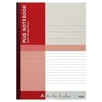 プラス 無線綴じノート ベーシック セミB5 30枚 A罫 75085 1セット(60冊:10冊入×6袋)