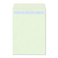 ハート 透けない封筒 カラー テープ付 角2(A4) グリーン XEP470 500枚(100枚×5袋)