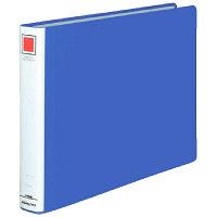 チューブファイル エコツインR B4ヨコ とじ厚30mm 青 12冊 コクヨ 両開きパイプ式ファイル フ-RT639B