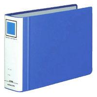 チューブファイル エコツインR B5ヨコ とじ厚50mm 青 4冊 コクヨ 両開きパイプ式ファイル フ-RT656B