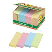 ポストイット ふせん 75×25mm カラー4色 1箱(20冊入)