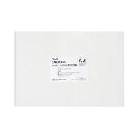 プラス カードケース ハードタイプ(再生PET仕様) A2 435×610 34462 業務用パック 1箱(10枚入)