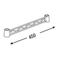 エレクター ホームエレクターハンガーレール 幅450 クローム HA118C 1セット(2本入) (直送品)