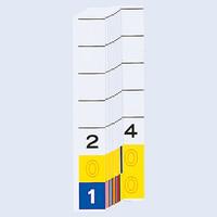 リヒトラブ カラーナンバー見出紙(ターミナルデジット3桁)「201」~「400」 HK784-2 1箱(200枚入)