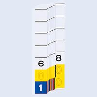 リヒトラブ カラーナンバー見出紙(ターミナルデジット3桁)「601」~「800」 HK784-6 1箱(200枚入)