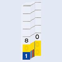 リヒトラブ カラーナンバー見出紙(ターミナルデジット3桁)「801」~「000」 HK784-8 1箱(200枚入)